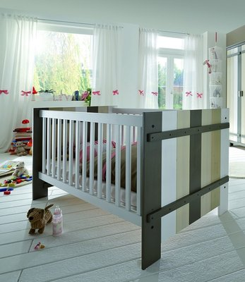 Infanskids babybed 70x140 Merlin wit - mixed wood