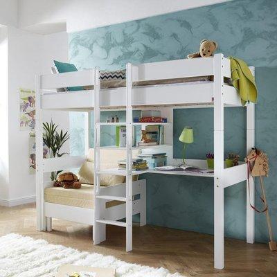 Relita Noel hoogslaper 90x200 met lounge en bureau beuken wit