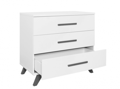 Bopita Levi design commode 3 lade wit - grey