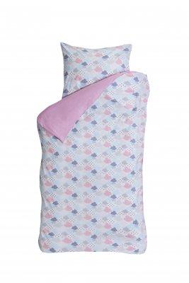 Bink bedding dekbedovertrek cloudy roze
