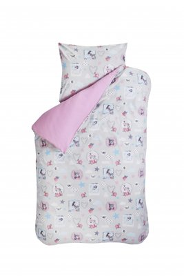Bink bedding dekbedovertrek lovely roze