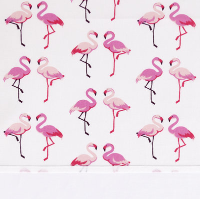 Bink bedding hoeslaken 60x120 Flamingo