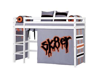 Hoppekids Basic Skater tent middel hoogslaper 90x200 grenen wit