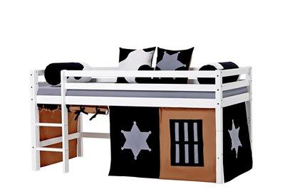 Hoppekids Basic Cobow tent + halfhoogslaper 90x200 grenen wit