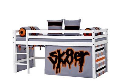Hoppekids Basic Skater tent + halfhoogslaper 90x200 grenen wit