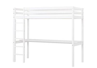 Hoppekids Basic hoogslaper + bureau blad 90x200 grenen wit