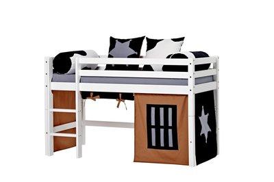 Hoppekids junior Basic Cobow tent + halfhoogslaper 70x160 grenen wit