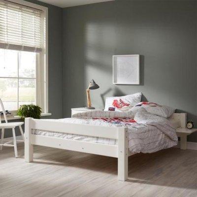 Beddyfurn nuova twijfelaar bed 120x200 grenen wit