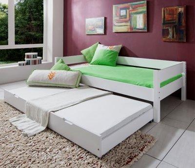 Relita Nik bedbank + slaaplade 90x200 beuken wit