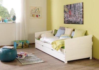 Relita Nina bedbank + slaaplade 90x200 beuken wit