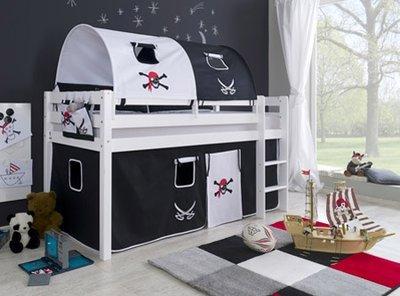Relita Alex piraat tenten halfhoogslaper 90x200 beuken wit