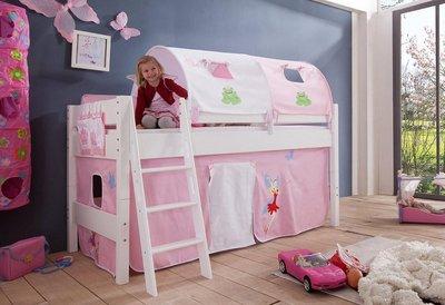 Relita Kim Prinses tenten halfhoogslaper 90x200 beuken wit