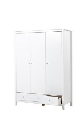 Hoppekids 3 deurs kleding kast wit