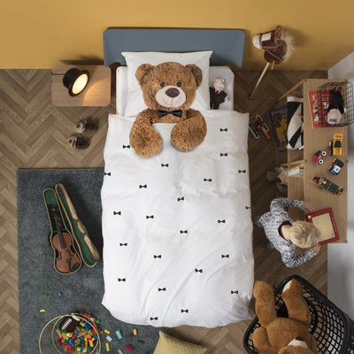 Snurk dekbedovertrek 1- persoons 140x200 Teddy