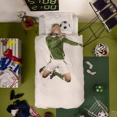 Snurk Soccer dekbedovertrek groen