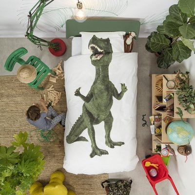 Snurk dekbedovertrek 1-persoons 140x200 Dinosaurus Rex