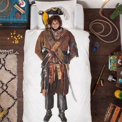 Snurk Pirate dekbedovertrek junior 120x150