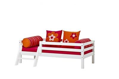 Hoppekids Flower power set basic junior bed 70x160 + matras +kussens
