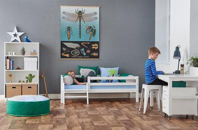 Hoppekids Dinosaur set basic junior bed 70x160 + matras +kussens