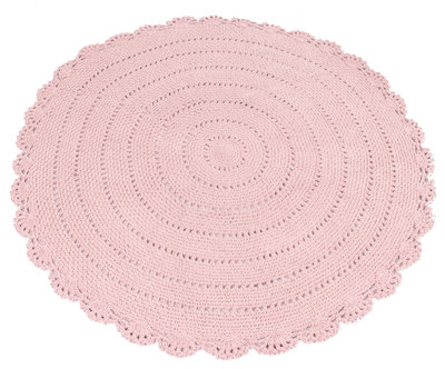 Kidsdepot roundy vloerkleed pink