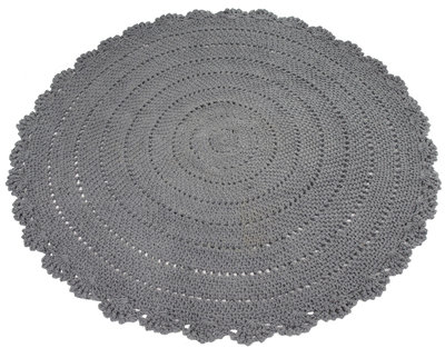 Kidsdepot roundy vloerkleed grey