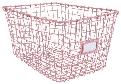 Kidsdepot wire basket pink