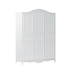 Beddyfurn Paarla 3 deurs hang-legkast wit