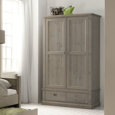 Alta 5392 2 deurs kleding kast grenenhout stone grey