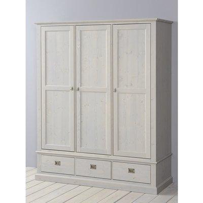Alta 5393 kledingkast 3 deurs 3 laden grenenhout stone grey