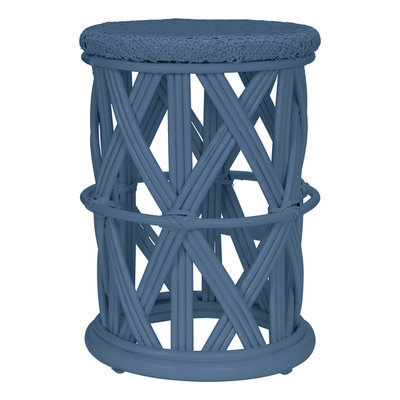 Kidsdepot Clu-Clu Rotan krukje blue