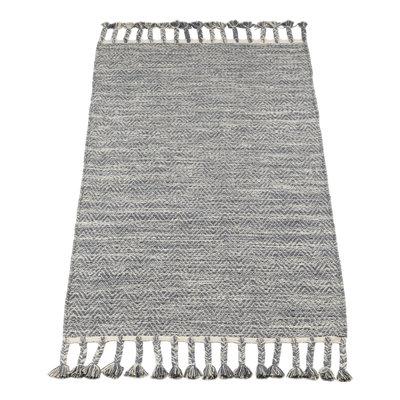 Kidsdepot Vloerkleed Fringes grey