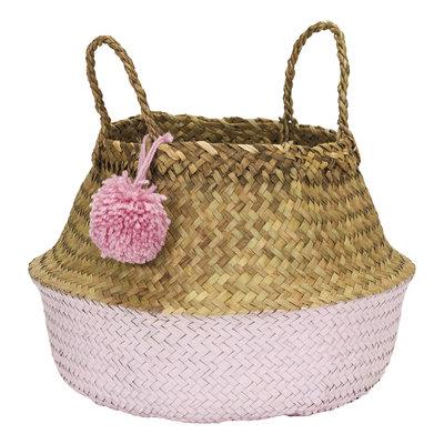 Kidsdepot Pompon size L opvouwbare mand Pink