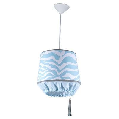 Kidsdepot zebra hanglamp blue