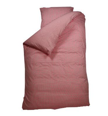 Bink bedding overtrek BB ruit rose