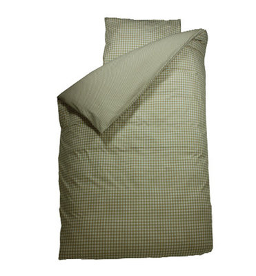 Bink bedding overtrek BB ruit zand
