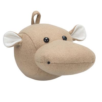 Kidsdepot Dierenkop Hippo natural