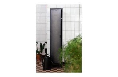 Woood Cas metalen locker kast 1 deurs zwart