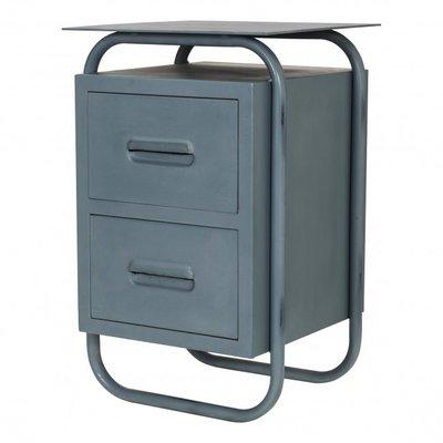 Stapelgoed metalen bureau kastje grey vintage