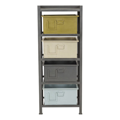 Stapelgoed Rack incl. 4 boxen