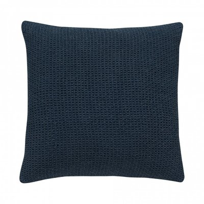 Stapelgoed kussen knitted blue