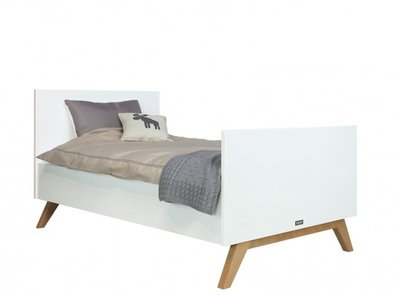 Bopita Lynn peuter bed 90x160 wit - naturel