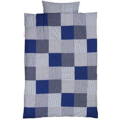 Taftan patchwork blauw dekbeovertrek