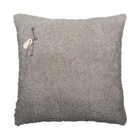 Stapelgoed kussen teddy grijs 60x60 cm