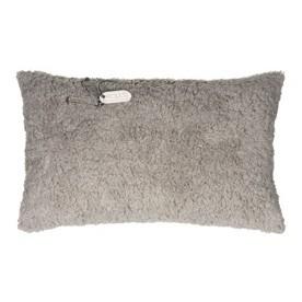Stapelgoed kussen teddy grijs 30x50 cm