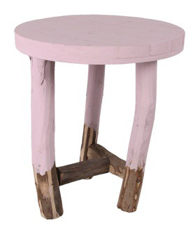 Stapelgoed krukje tripod stool violet
