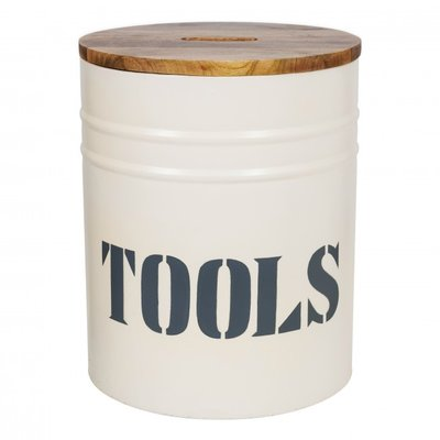 Stapelgoed storage oil bin tools white