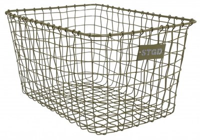 Stapelgoed basket large army green
