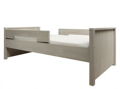 Bopita Basic wood 90x200 bed +dubbele uitval grenen gravel wash