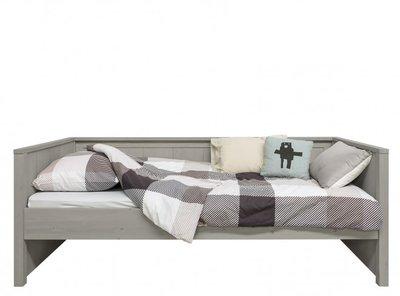 Bopita Basic wood bedbank 90x200 grenen gravel wash