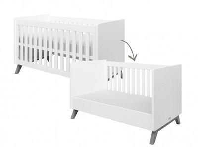 Bopita Levi bedbank 70x140 white/grey